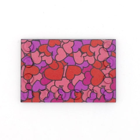 Couples Heart Pattern Baseplate - Custom Printed Baseplate
