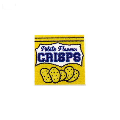 Crisps / Chips Packet - Custom Printed LEGO Tile