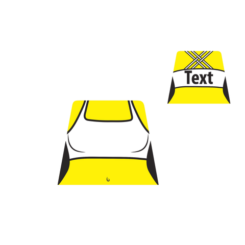Cross Back Sports Bra (Various Colours) - Custom Design Minifigure Torso