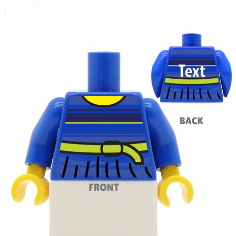 Cute Stripey Top (Various Colours) - Custom Design Minifigure Torso