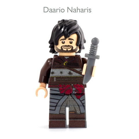 Game of Thrones LEGO, Medieval Fantasy, Daario Naharis - Custom Design Minifigure