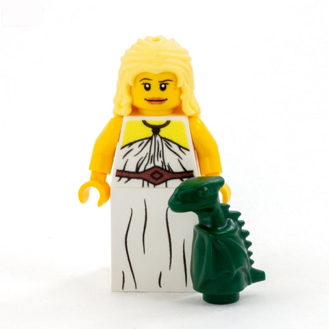 Daenerys Targaryen and a Baby Dragon, Game of Thrones - Custom Design LEGO Minifigure