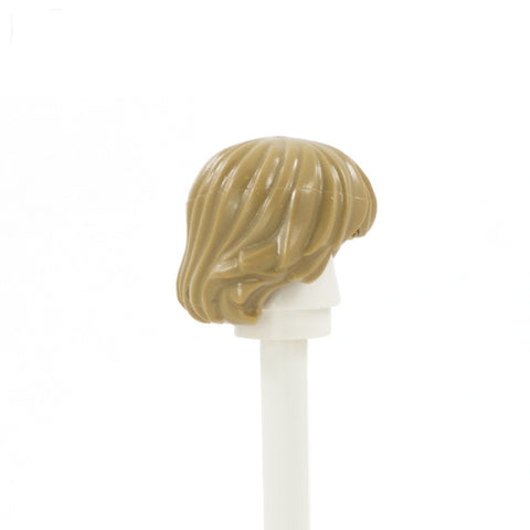 Dark Blonde Short Shaggy Blonde - LEGO Minifigure Hair
