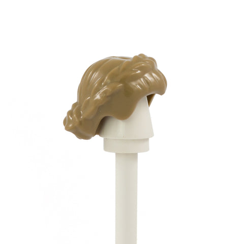 Dark Blonde Plaited Bun - LEGO Minifigure Hair