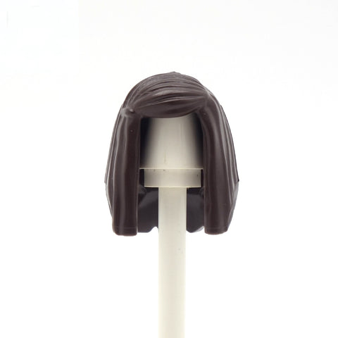 Dark Brown Long Neat - LEGO Minifigure Hair