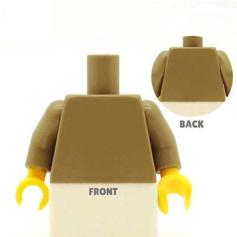 Suit Jacket (Various Colours), Waistcoat and Loose Tie - Custom Design Minifigure Torso