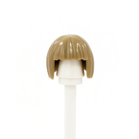 Dark Blonde Neat Bob with Fringe - LEGO Minifigure Hair