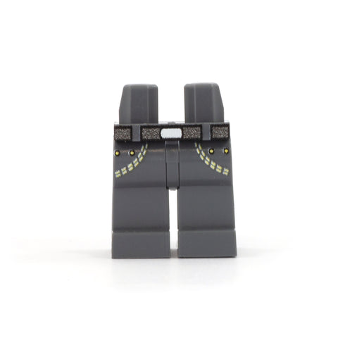 LEGO Dark Grey Jeans - Custom Printed Minifigure Legs