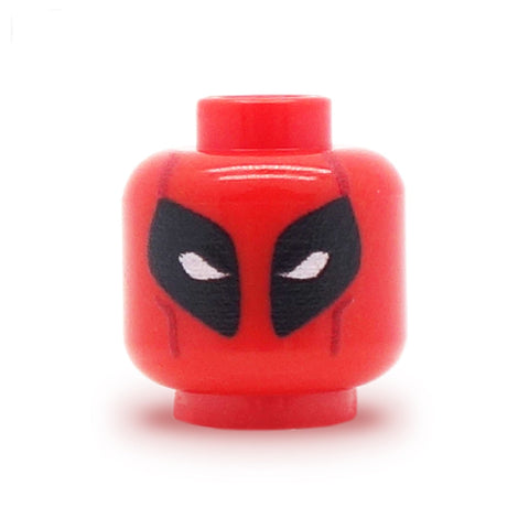 Deadpool Head - Custom Designed LEGO Minfigure Head