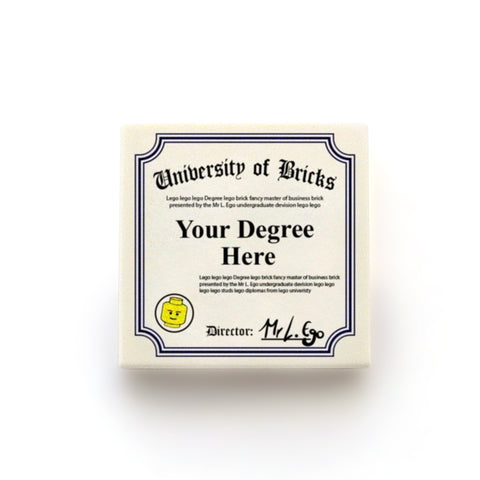 Customisable Degree Graduation Certificate - Custom Design Tile