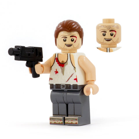 LEGO Bruce Willis, Die Hard Hero - Custom LEGO Minifigure
