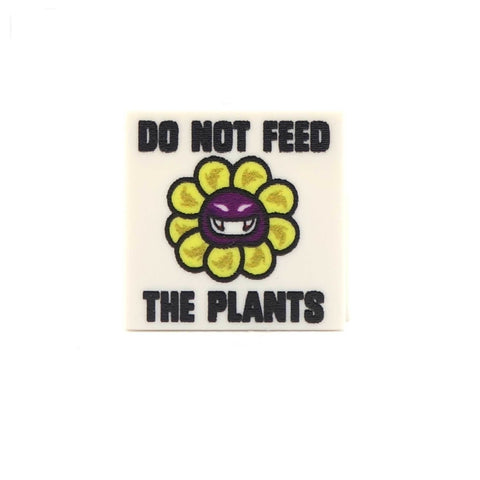 Carniverous Plant Do Not Feed - Custom Printed LEGO Tiles and LEGO Accessories