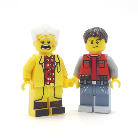 Back to the Future Doc and Marty Custom LEGO Minifigure
