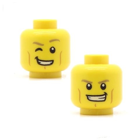 Chiseled Cheekbones Cheeky Grin / Wink (Double Sided) LEGO Minifigure Head