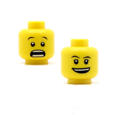 Wide Open Grin / Shocked (Double Sided) LEGO Minifigure Head