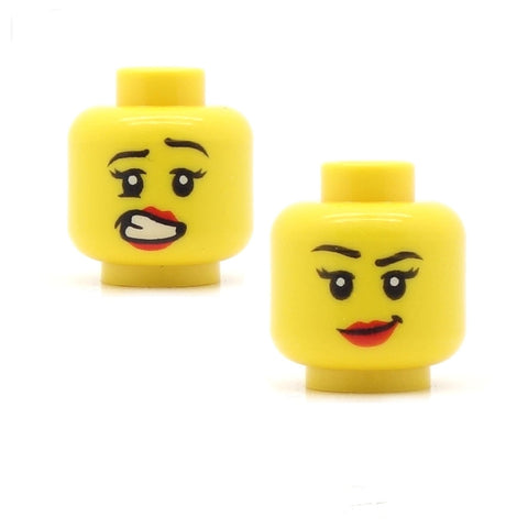"Double sided ""errrr"" / ""hmmm"" LEGO minifigure head"