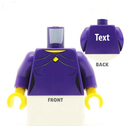 Dressy Top with Diamond Cut Neckline (Various Colours) - Custom Designed LEGO Torso