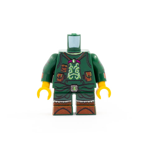 Druid Outfit (Short Legs, Various Colours Available) - Custom Design LEGO Minifigure Legs and Torso