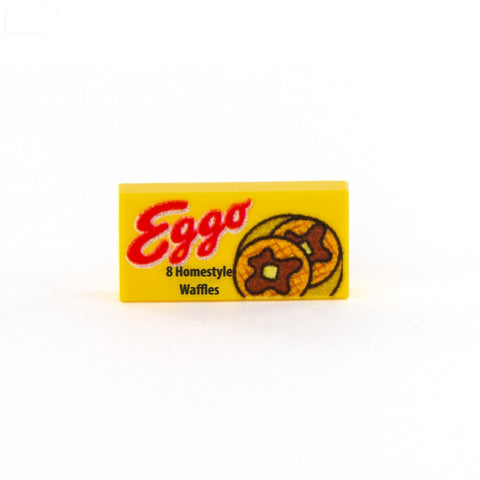 Eggo Tile, Stranger Things - Custom LEGO Tile for builds, MOCs and minifigures