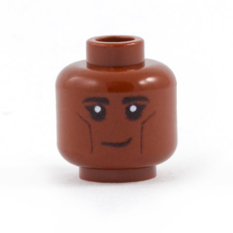 LEGO Elf Head - Custom Design Minifigure Head light reddish brown / dark flesh skin tone