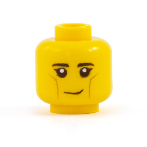 LEGO Elf Head - Custom Design Minifigure Head yellow