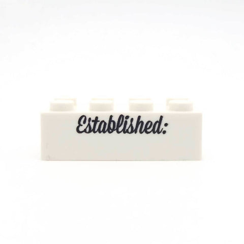 Personalised 'Established ...' Custom LEGO Display Brick
