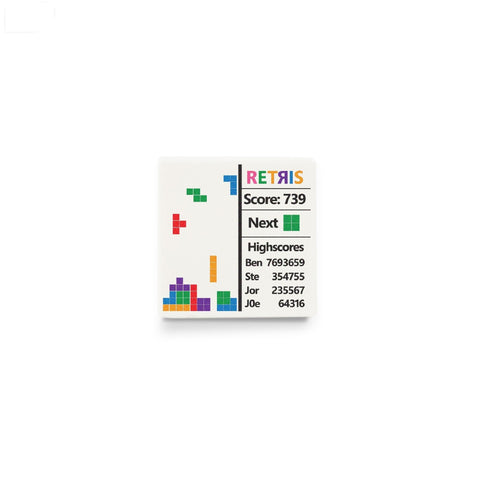 LEGO tetris screen, custom printed LEGO tile