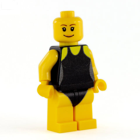 Personalised Swimmer Minifgure (Female) - Custom Design Minifigure