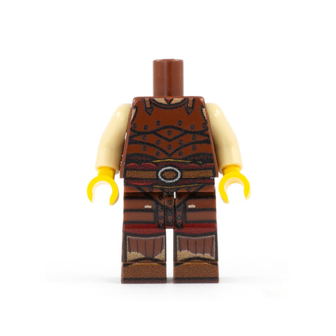 RPG / DND / Dungeons and Dragons - Fighter Outfit with Leather Armour (Regular Legs) - Custom Design LEGO Minifigure Legs and Torso
