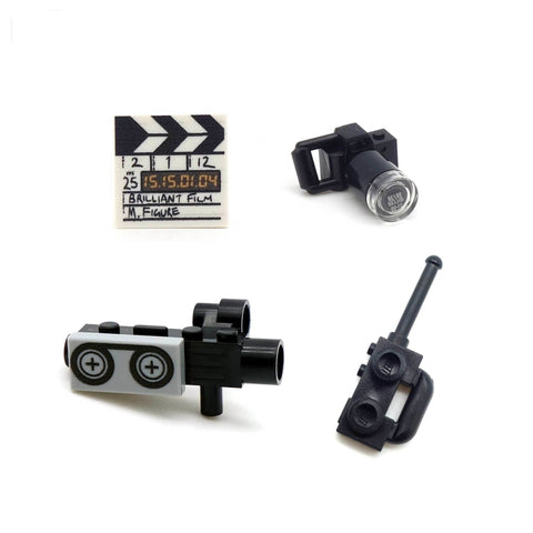 Film Crew Starter Pack Custom LEGO Tiles and LEGO Accessories