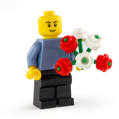 LEGO Bunch of Red and White Flowers - Minifigure Accessory