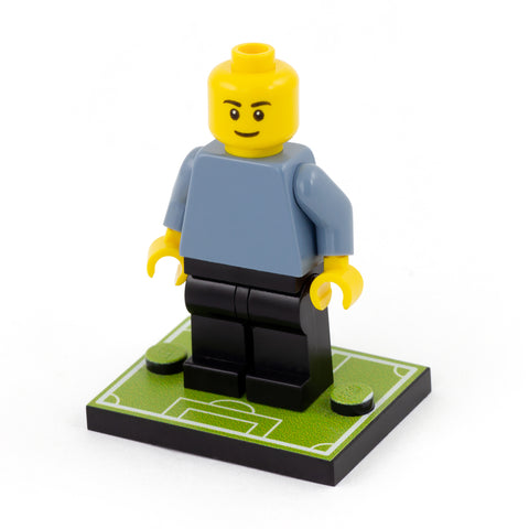 Football Pitch Baseplate - Custom Printed LEGO Baseplate to display your minifigure