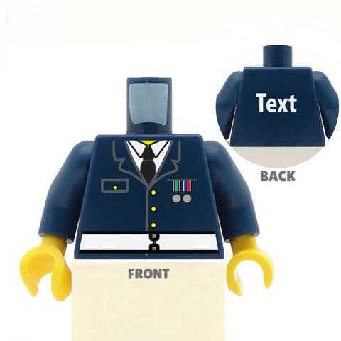 Formal Military Jacket (Various Colours)  - Custom Designed LEGO Minifigure Torso