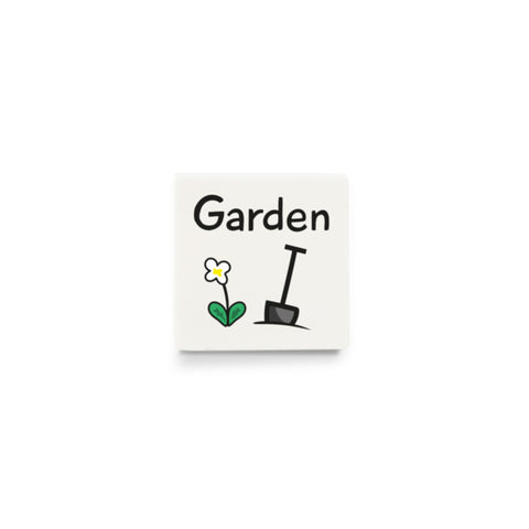 Garden (Activity Tile for Visual Timetable) - CUSTOM DESIGN LEGO TILE