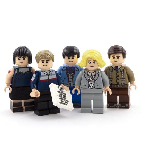 Gavin, Stacey, Nessa, Smithy and Uncle Bryn, What's Occurin' - CUSTOM DESIGN LEGO MINIFIGURE SET