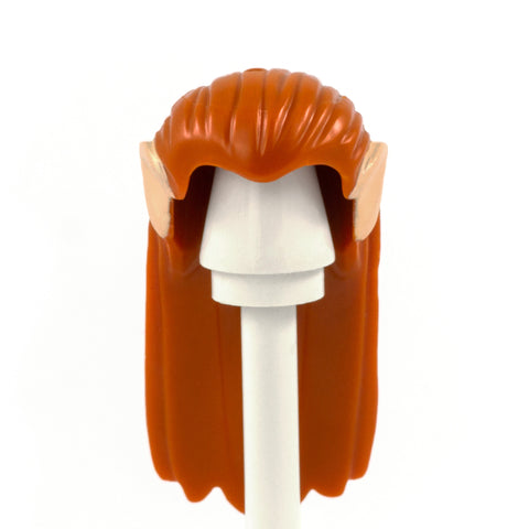 Long Ginger Hair with Light Skin Elf Ears - LEGO Minifigure Hair