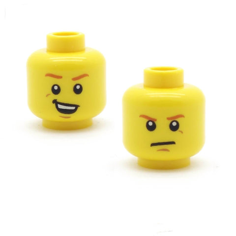 Ginger Eyebrows Snarky / Glum (Double Sided) LEGO Minifigure Head