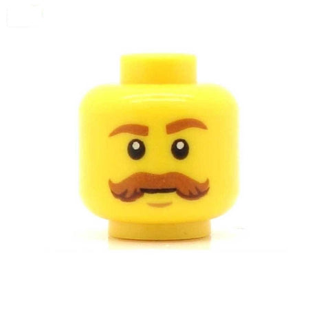 Ginger Handlebar Moustache LEGO Minifigure Head