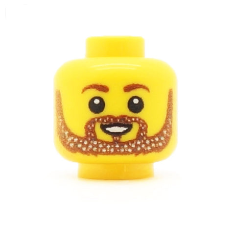 Glittery Beard - Custom Printed LEGO Minifigure Head