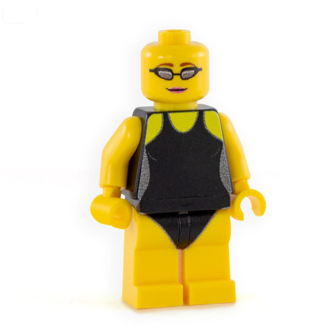 Personalised Swimmer Minifgure (Female) - Custom Printed LEGO Minifigure