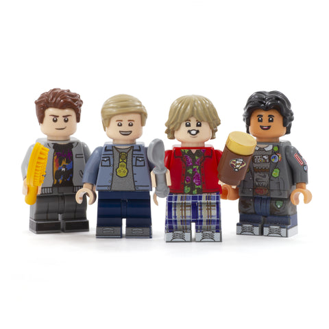 The Goonies (Mouth, Mikey, Chunk and Data) - Custom Design LEGO Minifigures