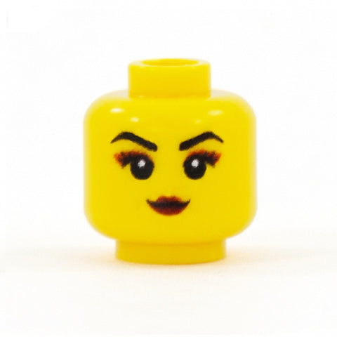 Dramatic Gothic Make Up - Custom Printed Minifigure Head