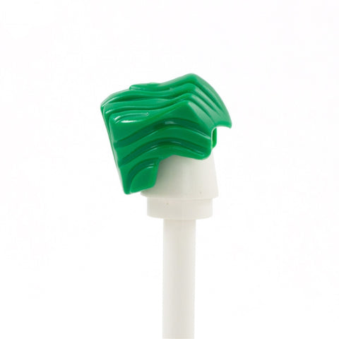 Green High Widow's Peak - LEGO Minifigure Hair
