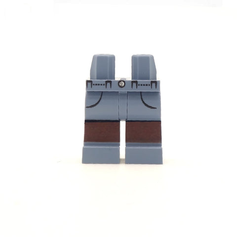 Blueish Grey Shorts with Pockets - Custom Printed LEGO Minifigure Legs