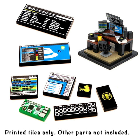 Tiles and Instructions for Hacker Minibuild - Custom LEGO Tiles