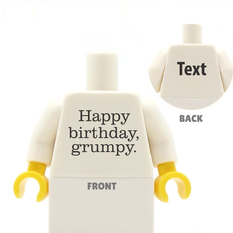 Happy Birthday, Grumpy - Custom LEGO Torso