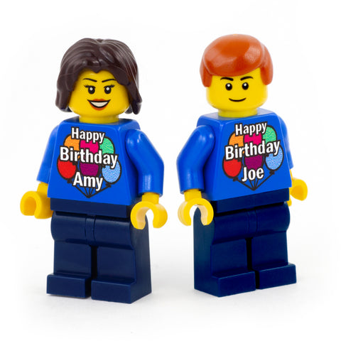 Personalised Happy Birthday Minifigure - Custom Design LEGO Minifigure