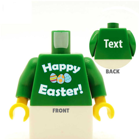 Happy Easter (with Easter Eggs) -  Custom LEGO Torso