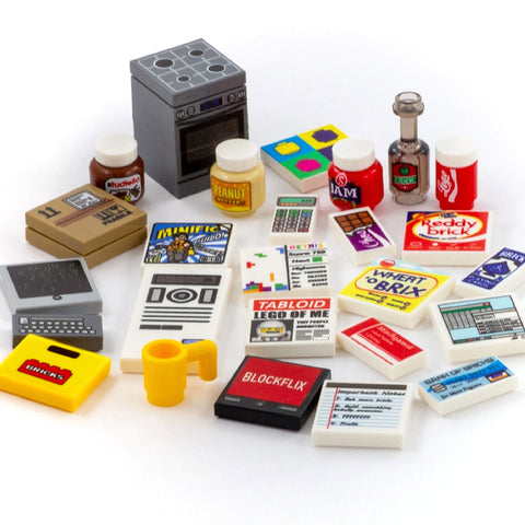 Household Themed Tiles and Accessories - Custom Printed LEGO Tiles and LEGO Accessories