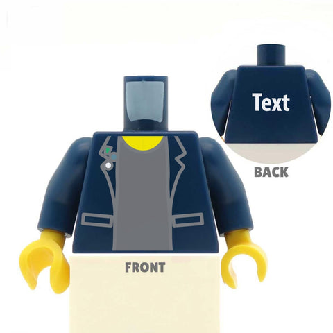 Jacket with Badges (Various Colours)  - Custom Designed LEGO Minifigure Torso